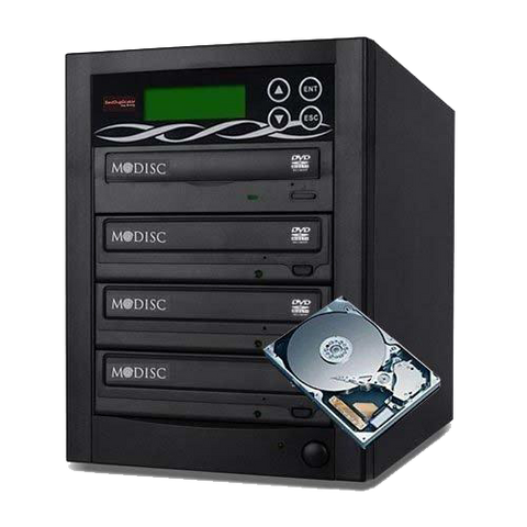 Bestduplicator Pro Hd Series - 4 Target External Disc Dvd/cd Duplicator Built-in 500gb Hard Disk Drive & 24x Burners