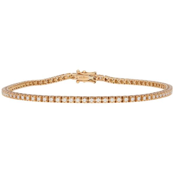 Bracciale tennis in oro rosa e diamanti ct. 0,75 F-SI2