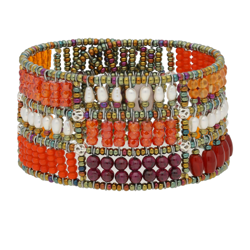 BRACCIALE FENICE PATCHWORK ORANGE