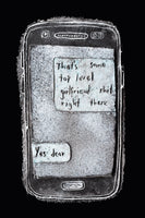 Glass Phone Artwork, Modern Love Letter - Top Level Girlfriend