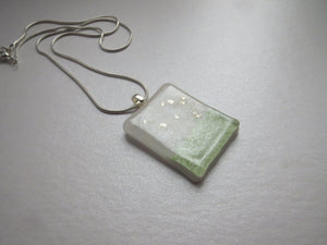 Little Landscape art glass pendant necklace