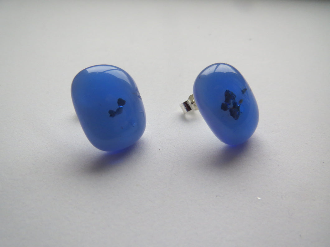 Blue Sparkle Stud Earrings