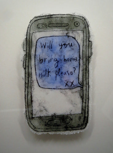 Bring Home Milk Please #2 - Modern Love Letter in Glass