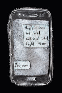 Top Level Girlfriend - Modern Love Letter in Glass