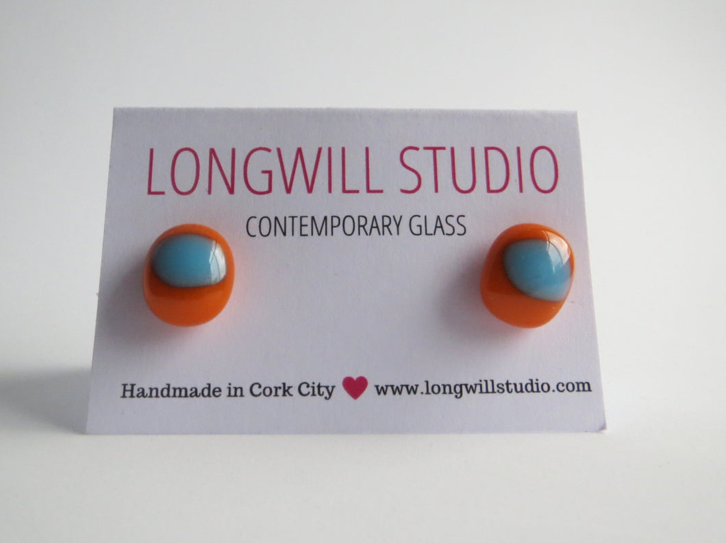 Colour Joy Orange and Blue studs