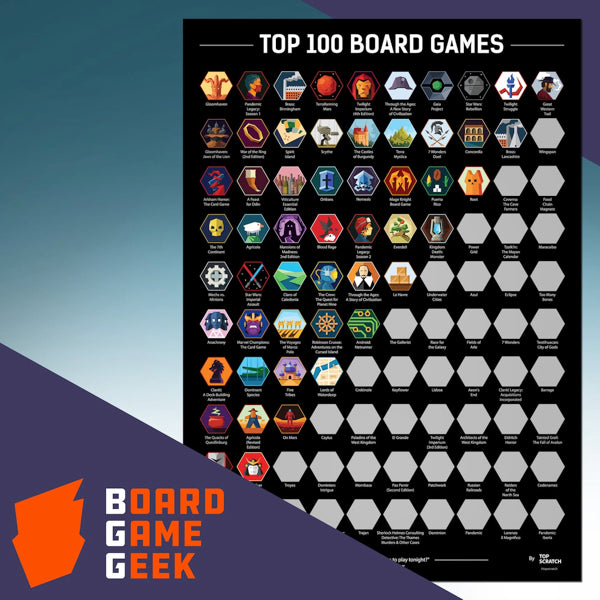 Top 100 Board Games [2021 BGG Edition] Scratch Poster - cafe2d6