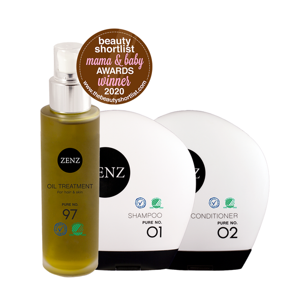 Mama & Baby: Shampoo Pure no. 01 + Conditioner Pure no. 02 + Oil Treatment Pure no. 97
