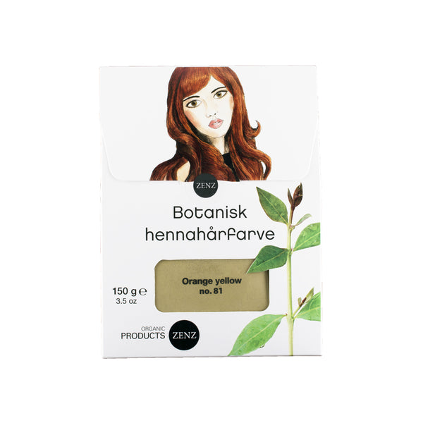 Botanical Henna Hair Colour Orange Yellow no. 81