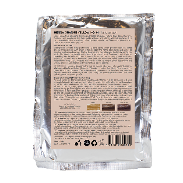 Botanical Henna Hair Colour Orange Yellow no. 81 (100 g)