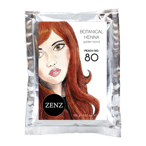 Botanical Henna Hair Colour Peach no. 80 (100 g)