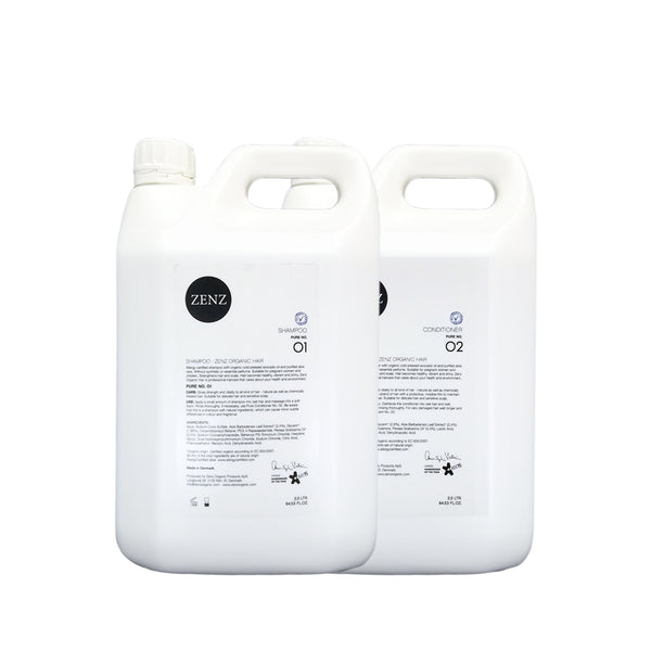 Lagersalg - Shampoo no. 01 + Conditioner Pure no. 02 (2500 ml)