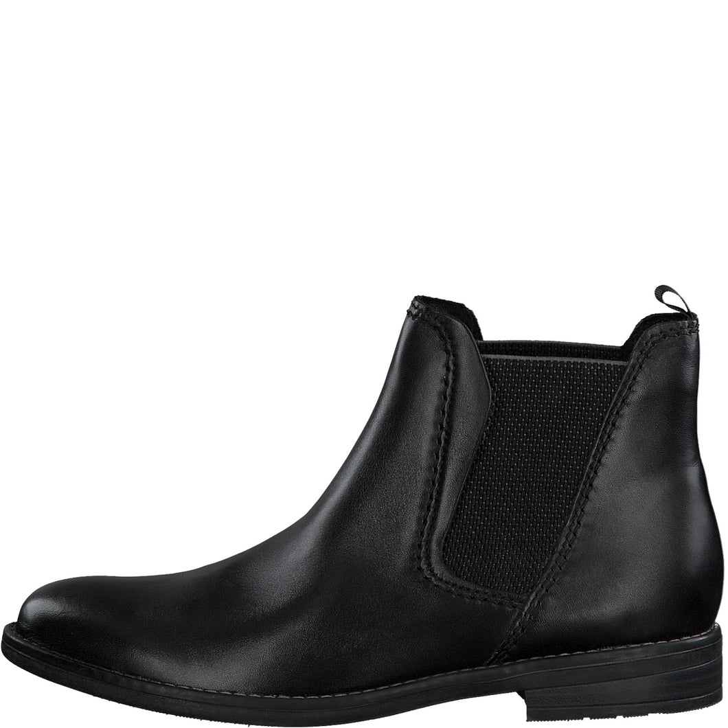 Marco Tozzi Leather Chelsea Boot Black