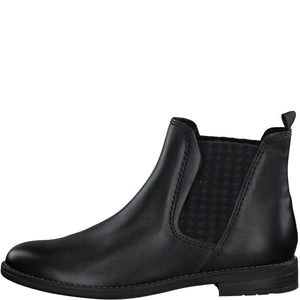 Marco Tozzi Leather Chelsea Boot Navy