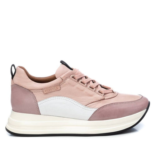 Carmela Leather Trainers Blush