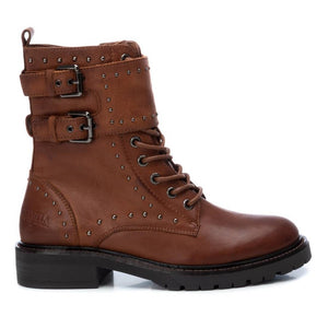 Carmela Leather Biker Boot Tan