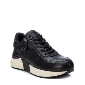 Carmela Leather Trainers Black