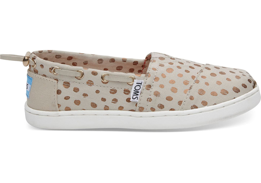 Toms Rose Gold Dot Youth