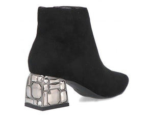 Menbur Embellished Heel Boot - Black