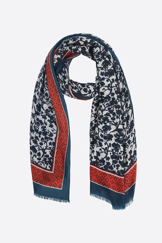 Monochrome Floral Scarf
