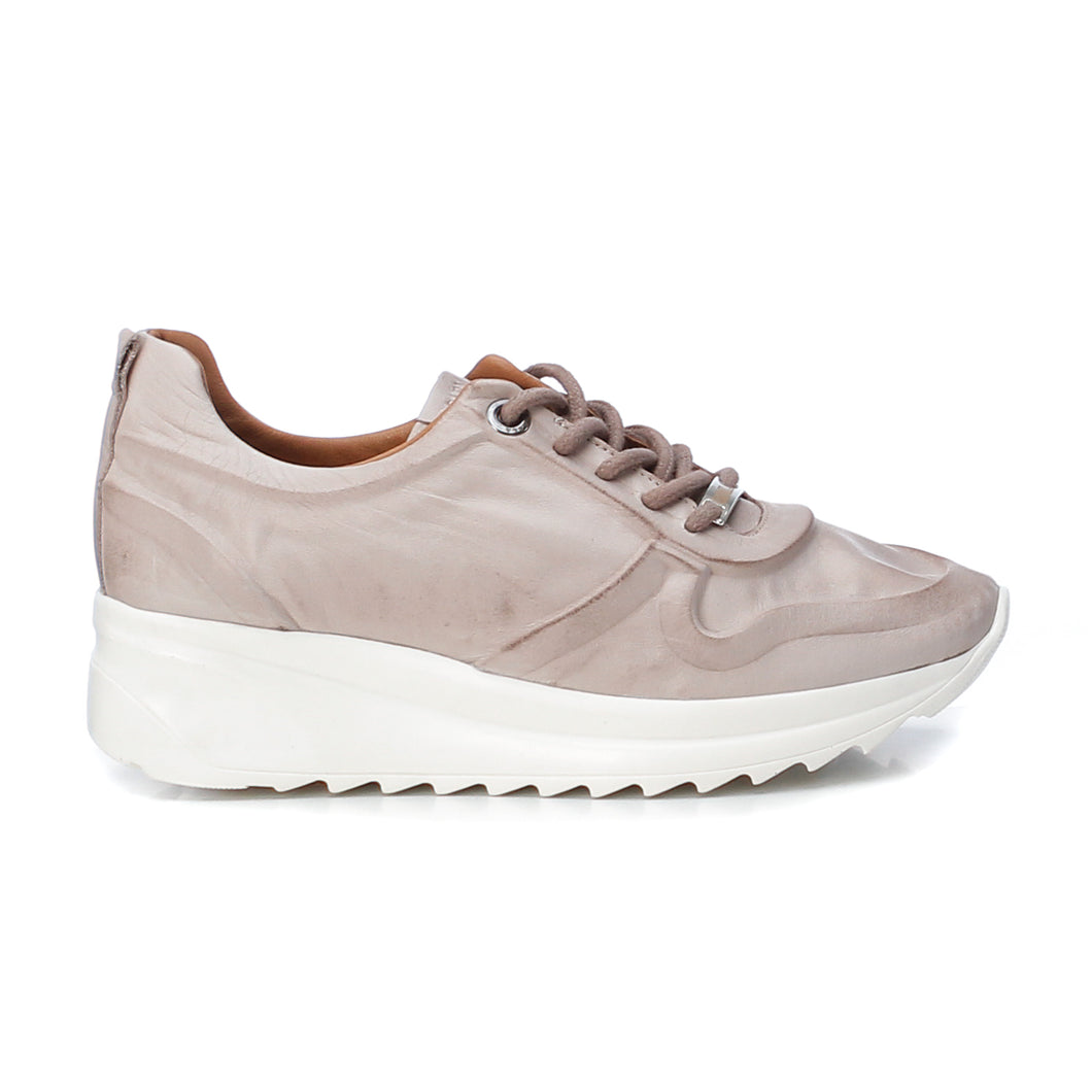 Carmela Leather Trainers - Ice