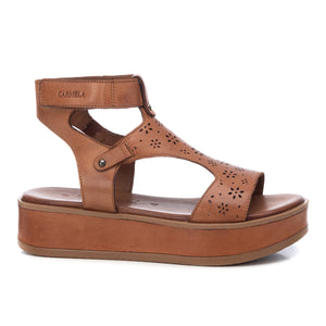 Carmela Leather Flatform Sandal