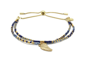 Boho Betty Clarinet Bracelet Navy