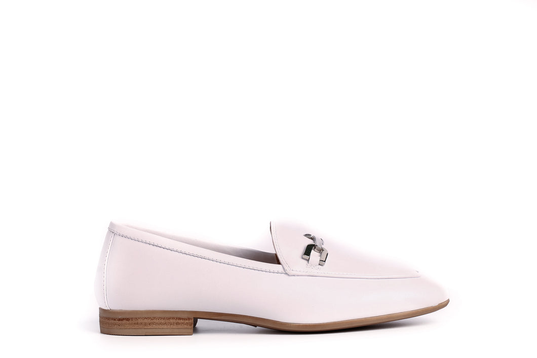 Unisa White Leather Loafer
