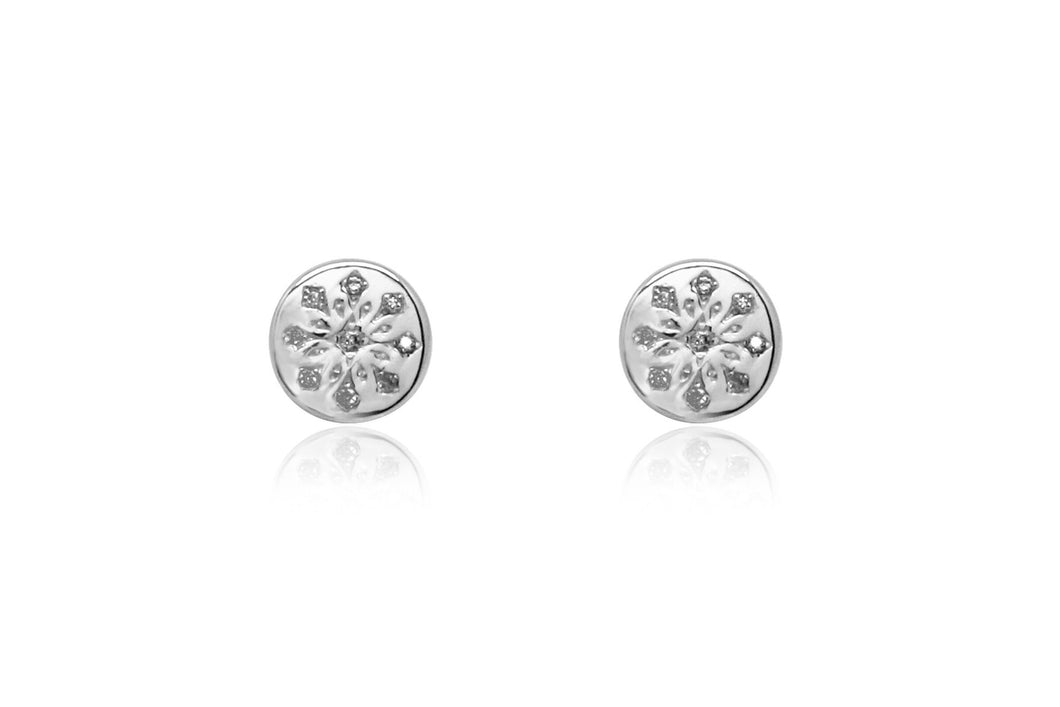 Boho Betty Arnes Silver Stud Earrings
