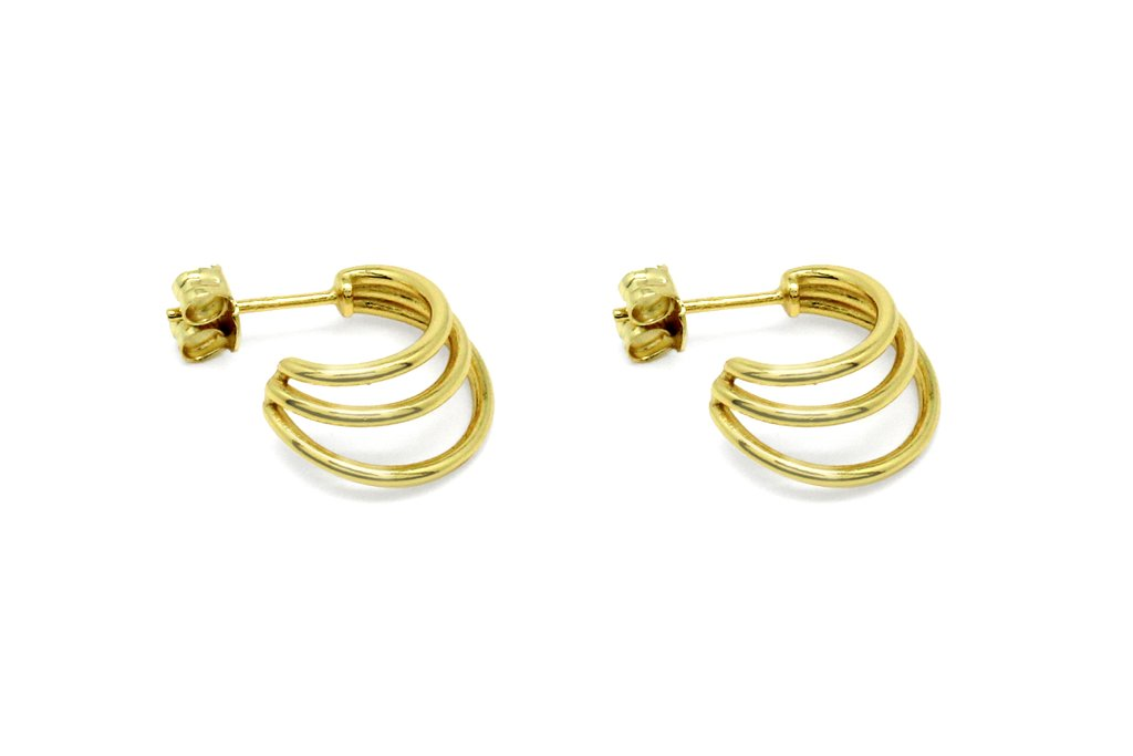 Boho Thurman gold triple half hoop earrings