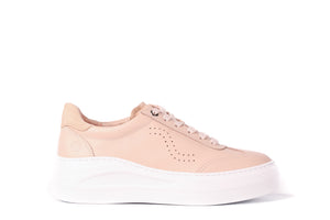 Unisa Nude Leather Trainer
