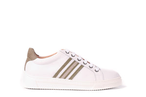 Unisa White Leather Trainer