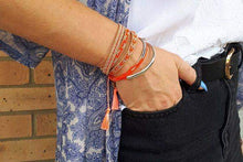 Load image into Gallery viewer, Boho Betty Coral Friendship Bracelet