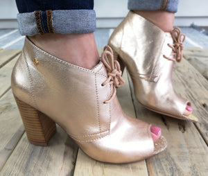 Bourbon Gold Metallic Shoe Boot