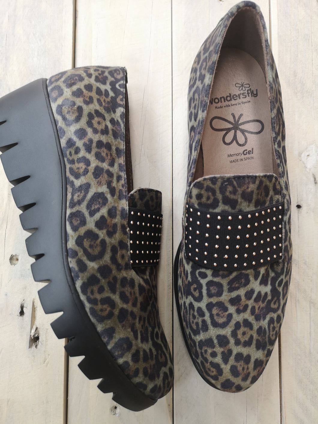 Wonders Animal Print Wedge