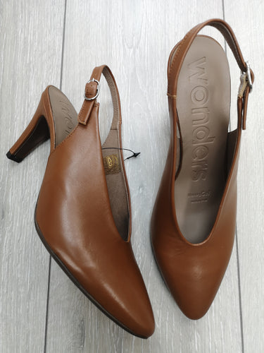 Wonders Leather Slingback