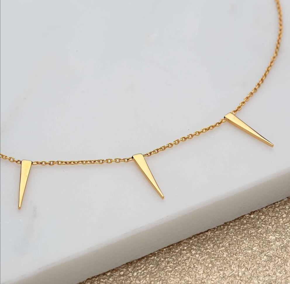 SP Gold Spiked Choker