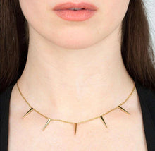Load image into Gallery viewer, SP Gold Spiked Choker