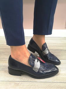Wonders Patent Loafer Navy