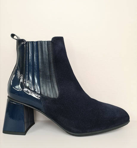 Hispanitas Suede & Patent Ankle Boot