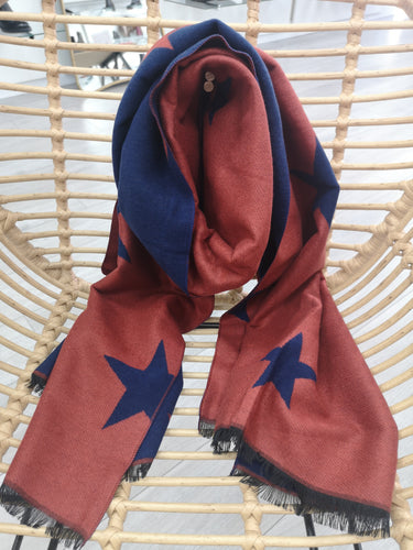 Cosy Double Sided Star Scarf