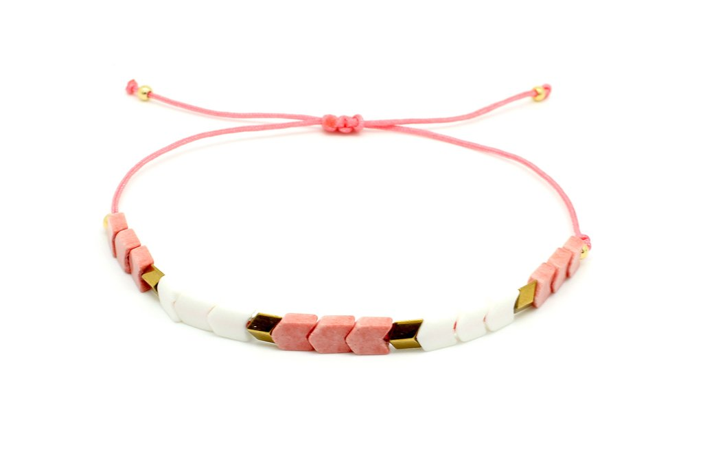Boho Betty Pepo Bracelet Coral