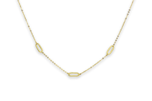 Boho Betty Midori Gold Oval Link Necklace