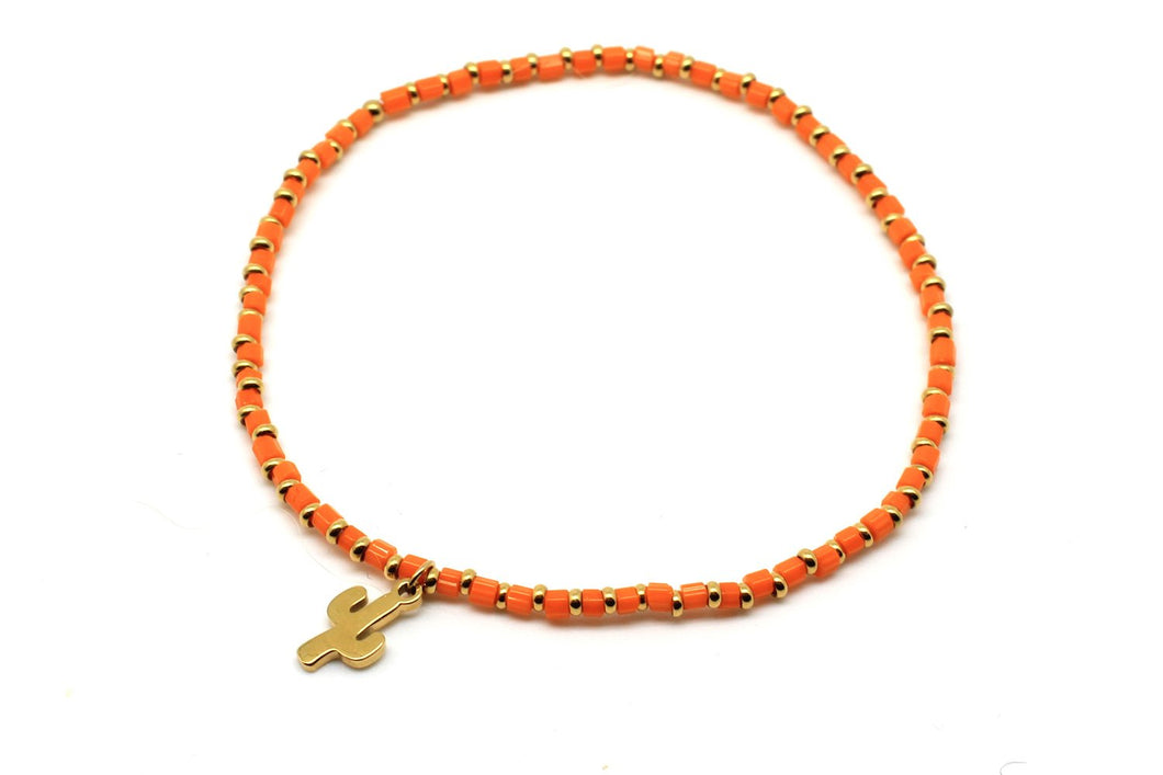 Boho Betty Pony Orange Stretch Bracelet