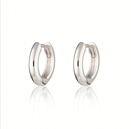 SP Huggie Hoop Earrings - Silver