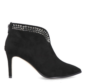 Menbur Black Suede Embellished Boot