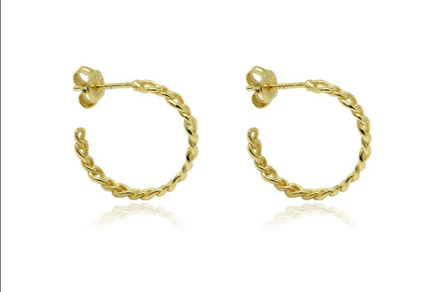 Boho Betty Mathis Gold Hoops