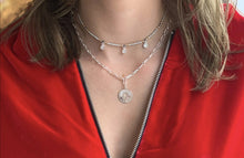 Load image into Gallery viewer, Boho Betty Dewi Silver Cable Chain Necklace with Coin Pendant