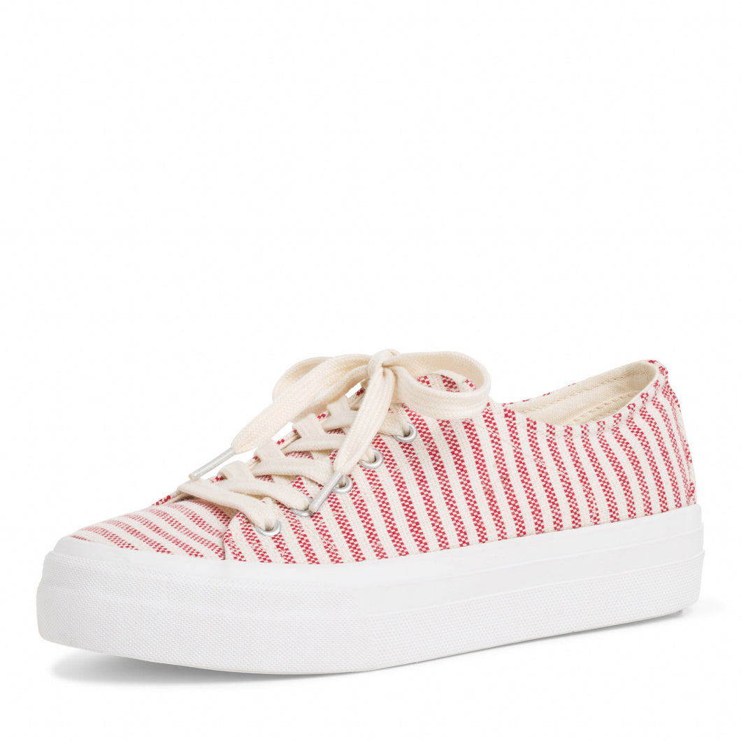 Tamaris Red Striped Trainer
