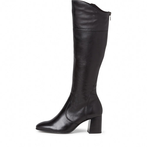Tamaris Long Black Leather  Boot