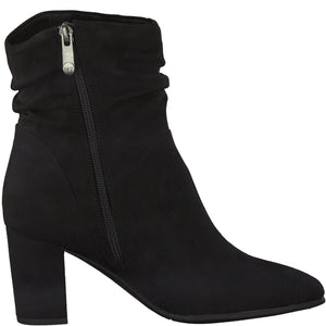 Marco Tozzi Ruched Ankle Boot Black